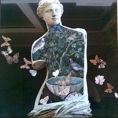 Pítko 50 x 50 cm koláž author Jana Černochová Pompeii And Herculaneum, Collage, Author, Statue, Inspiration, Art, Biblical Inspiration, Art Background, Collages
