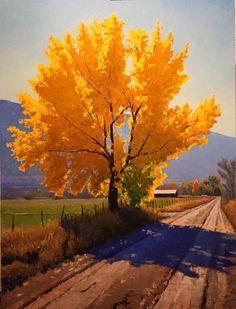 Douglas Aagard Cottonwood on a farm lane