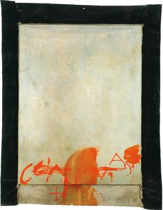Antoni Tàpies: Blau i taronja, 1975