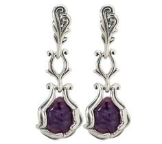 Carolyn Pollack Charoite Sterling Earrings
