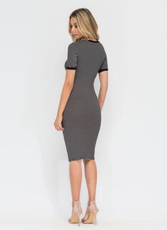 Go On Striped Tee Dress GoJane.com