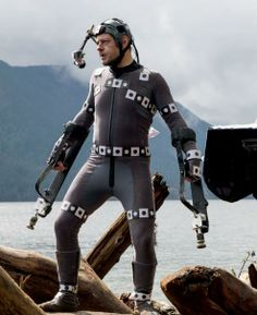 Andy Serkis on the sets of Dawn of the Planet of the Apes reprising his role as Caesar