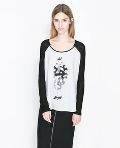 CAMISETA ESTAMPADA DIBUJO - Camisetas - MUJER | ZARA España