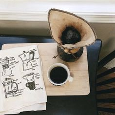 I'd love to sit down for a cup of coffee with @agentlewoman who picked up one of my coffee tea towels at @renegadecraft in Chicago a few weeks ago and snapped this lovely photo. Happy #nationalcoffeeday!