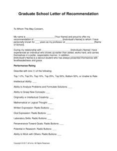 Free Graduate School Letter of Recommendation Template - with Samples - Word Masters Programs, Program Template, Graduate School, Graduation, Pdf, Letters, Templates, Writing, Words