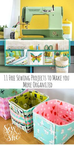 best free sewing projects to make you more organized! 66 trendy sewing projects for the home curtains french country sewing home Easy Sewing Projects, Sewing Projects For Beginners, Sewing Hacks, Sewing Tutorials, Sewing Crafts, Sewing Tips, Diy Crafts, Bag Tutorials, Sewing Ideas