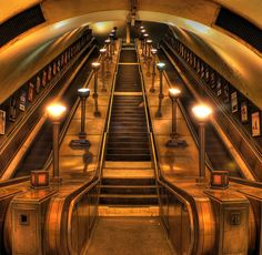 Art Deco, London, Southgate Tube Station designed by Holden, 1933.  Photo by Markus via Flickr.