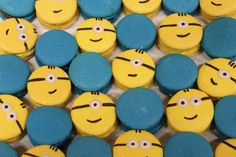Minion macarons made for 'One In A Minion' themed first birthday party!