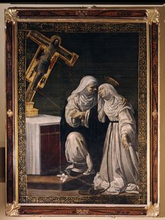 Siena (Italia) - Santuario Casa di Santa Caterina da Siena - Chiesa Crocifisso - Rutilio Manetti - Santa Caterina riceve le stimmate dal Crocifisso - 1630