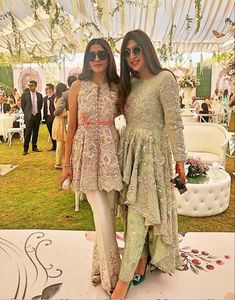 Frock style kurta, a line kurta with trousers, wedding outfit Shadi Dresses, Pakistani Formal Dresses, Pakistani Wedding Outfits, Pakistani Dress Design, Pakistani Party Wear, Designer Party Wear Dresses, Kurti Designs Party Wear, Indian Designer Outfits, Dress Designs