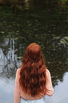 Long red hair. looking towards pond convolutedstateofmind.tumblr.com