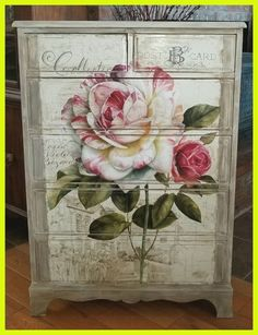 Shabby chic dresser, decoupage floral poster and b. - - Shabby chic dresser, decoupage floral poster and b… – - Cottage Shabby Chic, Shabby Chic Mode, Casas Shabby Chic, Shabby Chic Style, Shabby Chic Fabric, Chabby Chic, Bedroom Wallpaper Shabby Chic, Shabby Chic Bedroom Furniture, Shabby Chic Bedrooms