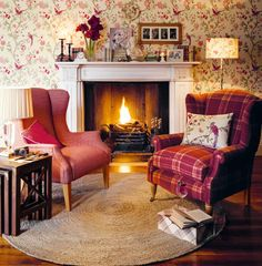 Laura Ashley wallpaper.  Perfect for country style home.