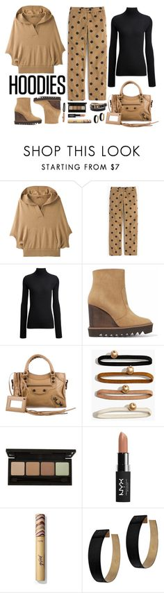 """Hoodies"" by marionmeyer ❤ liked on Polyvore featuring prAna, J.Crew, Joseph, STELLA McCARTNEY, Balenciaga, Madewell, NYX, Zimmermann and Hoodies"