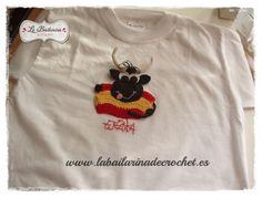 Simpática camiseta de un torito para regalar como souvenir de España