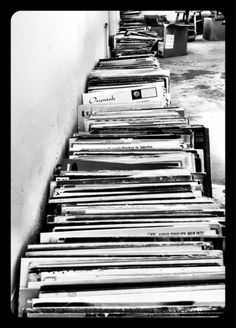 Follow the vinyl brick road.
