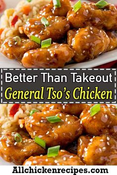 General Tso's Chicken - This easy general Tso chicken Chinese takeout recipe is sure to become your family favorite dinner that is made with juicy chicken with a sweet and savory stir fry sauce. Homemade Chinese Food, Best Chinese Food, Easy Chinese Recipes, Asian Recipes, Best Chinese Dishes, Chinese Chicken Dishes, Chicken Dishes For Dinner, Asian Chicken Recipes, Recipe Chicken