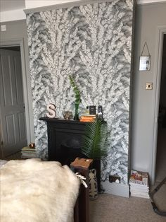 New bedroom wall... Cole & Son Florencecourt wallpaper