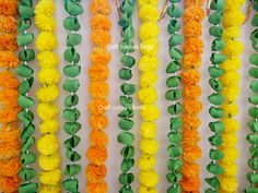 16 Free express ship Indian wedding decoration artificial marigold garland in orange and yellow colour with green leaves garlands backdrop Desi Wedding Decor, Indian Wedding Decorations, Wedding Stage, Bridal Shower Decorations, Decoration Party, Diy Diwali Decorations, Stage Decorations, Flower Decorations, Naming Ceremony Decoration