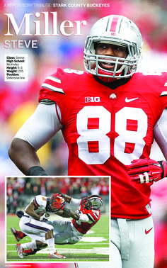 A tribute page for Ohio State senior defensive lineman and McKinley High School graduate Steve Miller.