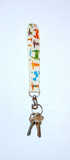 KAWAII GIRAFFES - Wristlet Strap / Key Holder / Key Fob