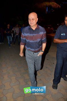 Anupam Kher at Akshay Kumar's Diwali party in Mumbai