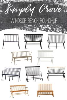 Windsor Bench Round Up Via Simply Grove