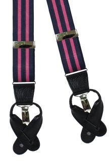 Blake Navy/Pink - Suspenders/Braces