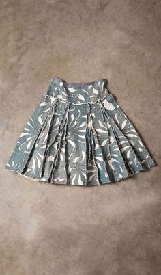 Alabama Chanin Magdalena Pleated Skirt - reverse applique, cotton jersey, pleated skirt w/yoke