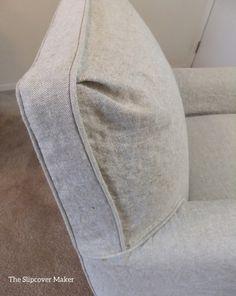 Oatmeal Linen Custom Slipcover