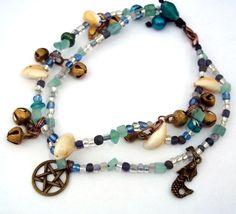 Ankle Bracelet Yemaya Brass Bell Cowrie Shells. Starting at $12 on Tophatter.com!