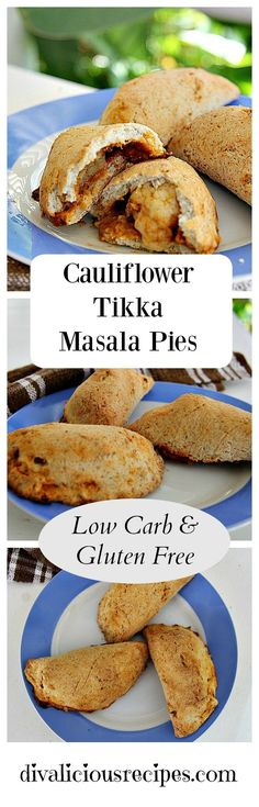Cauliflower tikka masala piies make a great snack or lunch. Recipe - http://divaliciousrecipes.com/2016/10/03/cauliflower-tikka-masala-pies/