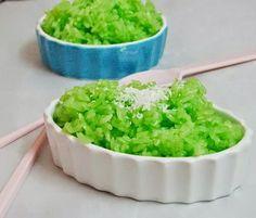 (Xôi Lá Nếp) - Steamed Sticky Rice with Pandan Leaves