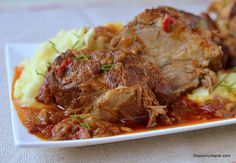 Pork Recipes, Baby Food Recipes, Cooking Recipes, Healthy Recipes, Fish And Eggs Recipe, Cook N, Good Food, Yummy Food, Romanian Food