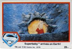 Superman The Movie, Topps Bubble Trading Card Christopher Reeve Superman, Bubble Gum, Trading Cards, Dc Comics, Bubbles, Retro, Movies, Painting, Art