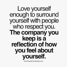 Take a look at those surrounding you. It like the mirror to your self worth. #JoinFreedomLifestyle #wellnessWednesday #attitude