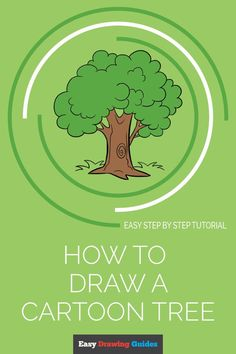 Cartoon Trees, A Cartoon, Cartoon Drawings, Easy Drawings, Flower Drawing Tutorials, Drawing Tutorials For Kids, Drawing Lessons, Drawing Techniques, Tree Drawing Simple