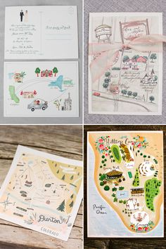7 Top Wedding Invitation Trends for 2016 - Venue Maps