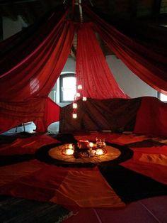 Red Tent in Brescia, Italy