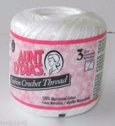 White Crochet Thread size 3, Aunt Lydias Fashion, MoonDancer Crafts, White Crochet Knitting Tatting Craft thread #TattingThread #CottonThread #CrochetThread #Size3Thread #CraftThread #MoondancerCrafts #AuntLydiasThread #Fashion3Thread #DoilyThread #KnitingThread