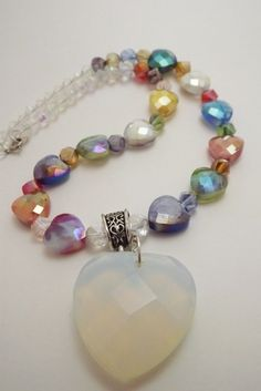 'Crystal Hearts Necklace' is going up for auction at  4pm Mon, Jun 18 with a starting bid of $15.