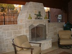 Limestone Fireplace -- Color Reference 1