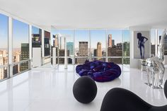 A Midtown Duplex with Fashion Roots Hits the Market for $25M- miles of marble.