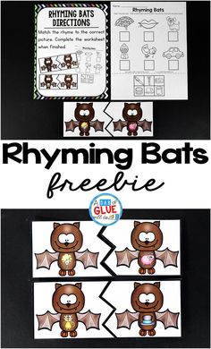 Rhyming Bats is the perfect addition to your literacy centers during the fall and Halloween months. These printables are perfect for kindergarten and first grade.