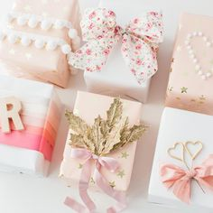 Did you see my blog post yesterday? If you didn't get a chance, go take a peek now to see some pretty gift wrap inspiration with @heygorgevents!