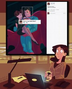 Superman and Lois Lane ... Facebook figures it out