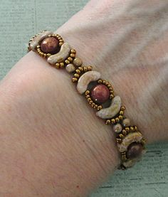 Linda's Crafty Inspirations: Bracelet of the Day: Jolie Band - Smoky Topaz