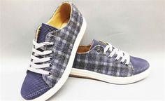 Bayan Günlük Ayakkabı Ekose Lacivert Beyaz(DNR5025LACİ)