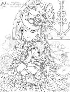 coloring pages for adults people 362 Best Steampunk Coloring Pages for Adults images in 2019  coloring pages for adults people