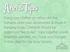 If you're simply running out of space in your closet, it can be hard to put together an outfit. Here's a way to make it easier!